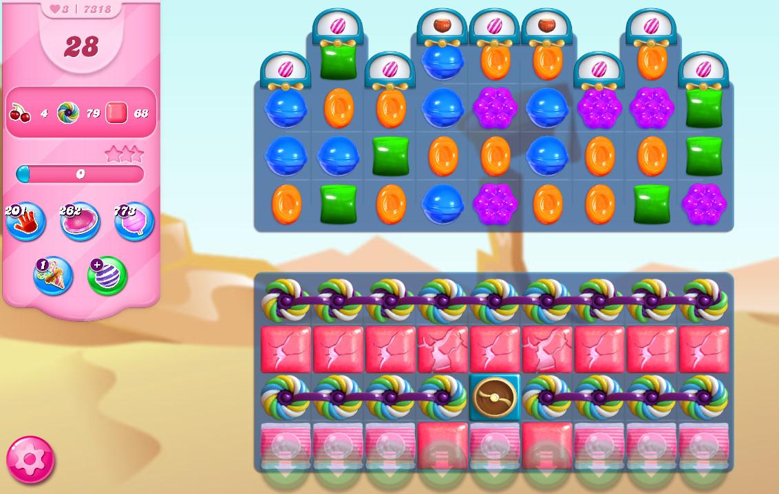 Candy Crush Saga level 7318