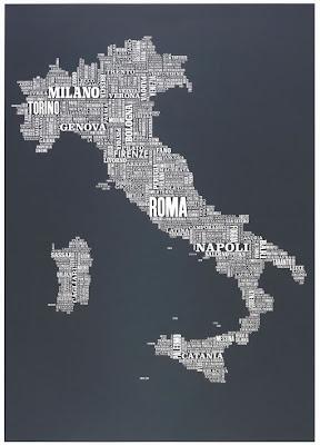 Карта Италии названия городов