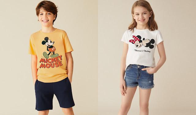 Mickey y Minnie protagonizan la nueva colección de Lefties Kids