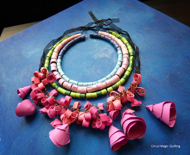 Circul Magic Quilling Colier Handmade flori hartie