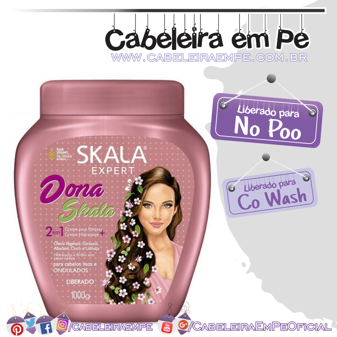 Creme de tratamento Dona Skala - Skala (No Poo)