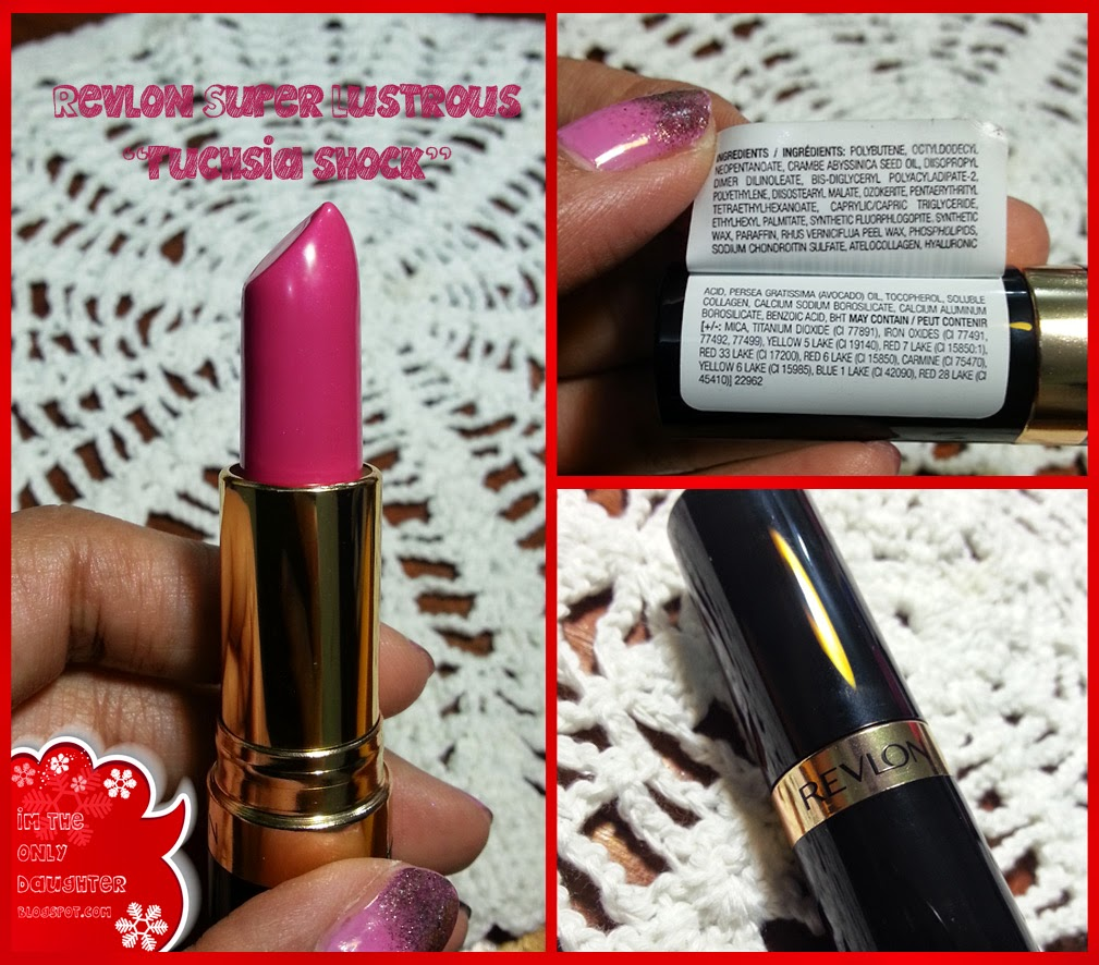 "REVIEW : Revlon Lipstick Colorburst ""Fuchsia"" & Super"