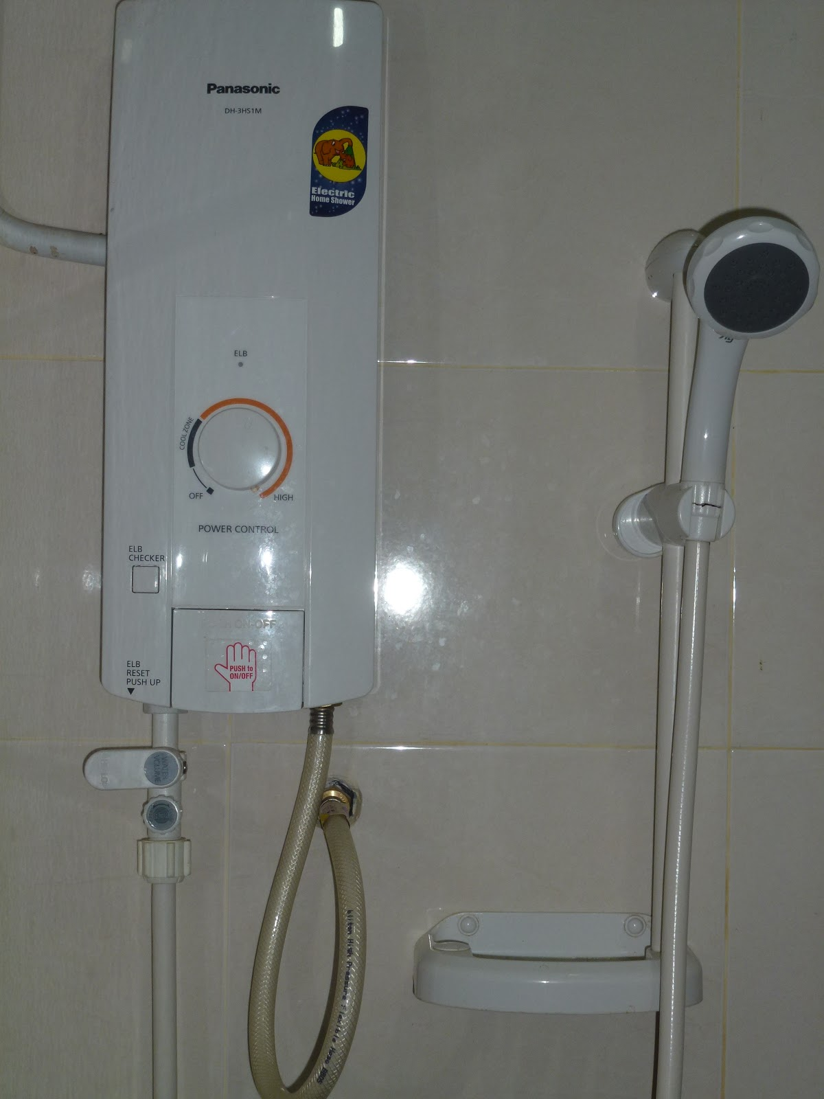 Pancuran Mandian Air Panas Elektrik Yang Terdapat Dalam Semua Bilik Mandi Di Al Inshirah Inn
