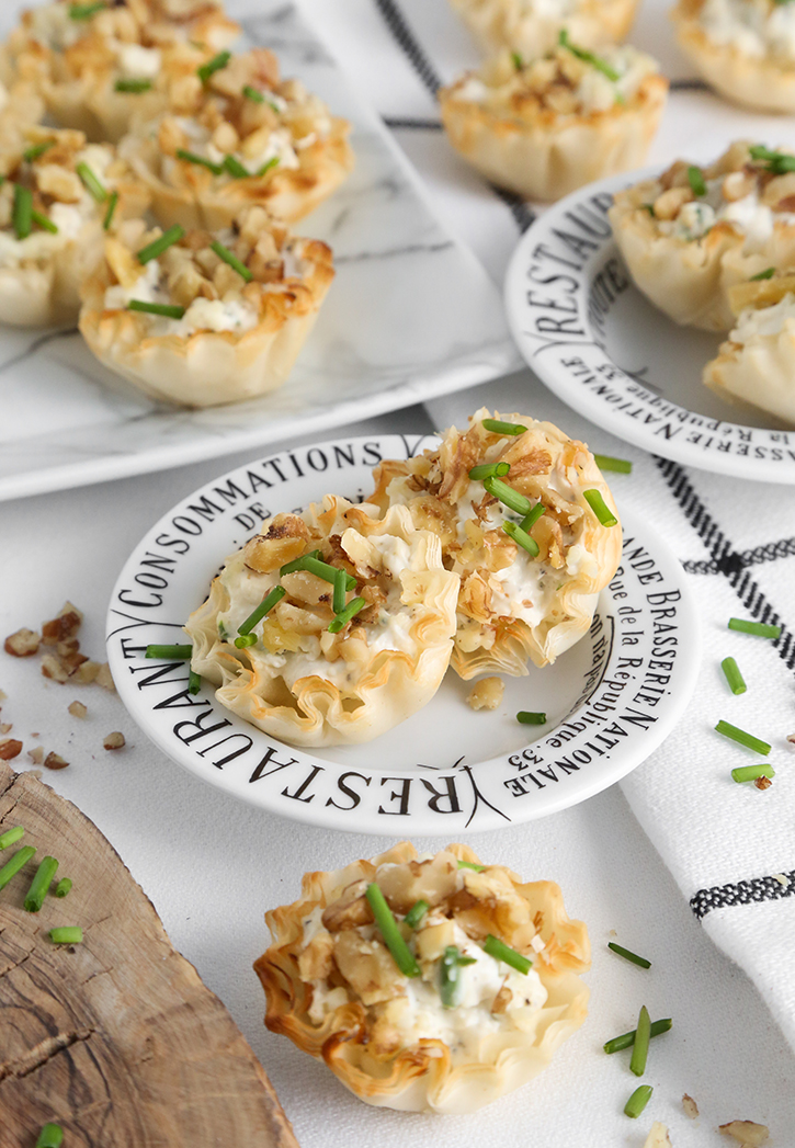 Gorgonzola Walnut Tartlets