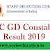 SSC GD Constable Result 2019: Check Cut-Off, Roll Number Wise Result and Other Details Here