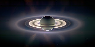Earth seen from Saturn