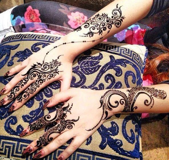 Arabic Khaleeji Mehndi Designs For Bridal