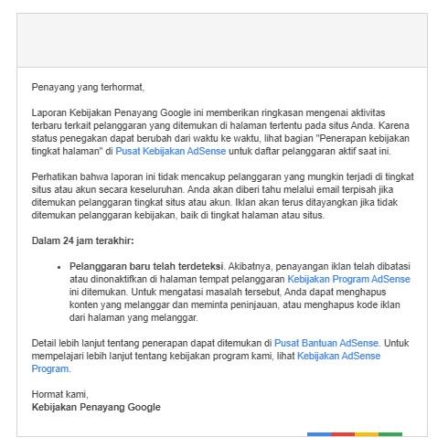 google adsense suspend