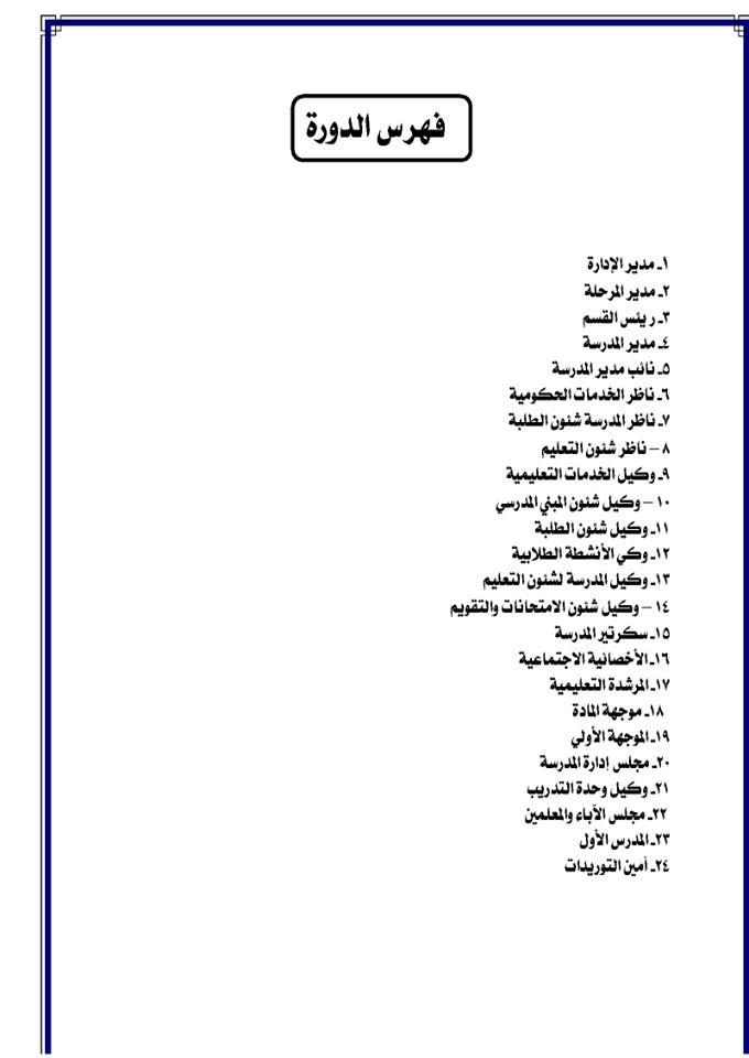 الوصف الوظيفى اختصاصات ومسئوليات الوظائف الاشرافية فى الادارات التعليمية والمدارس _28_2004_002