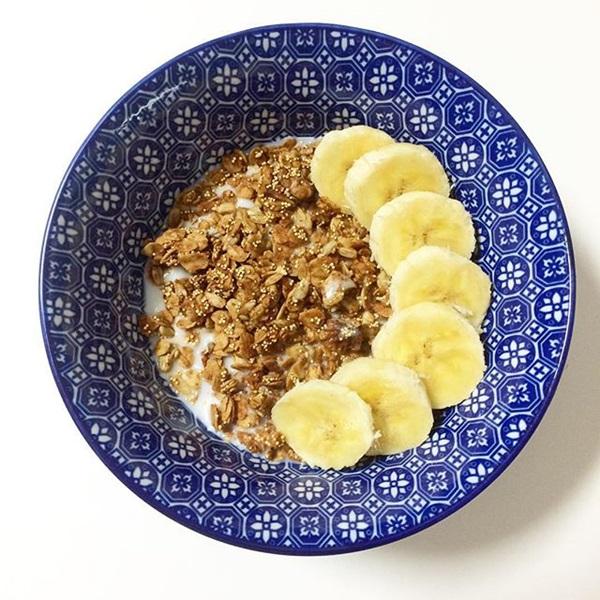 Con desayuno como avena un buen hacer
