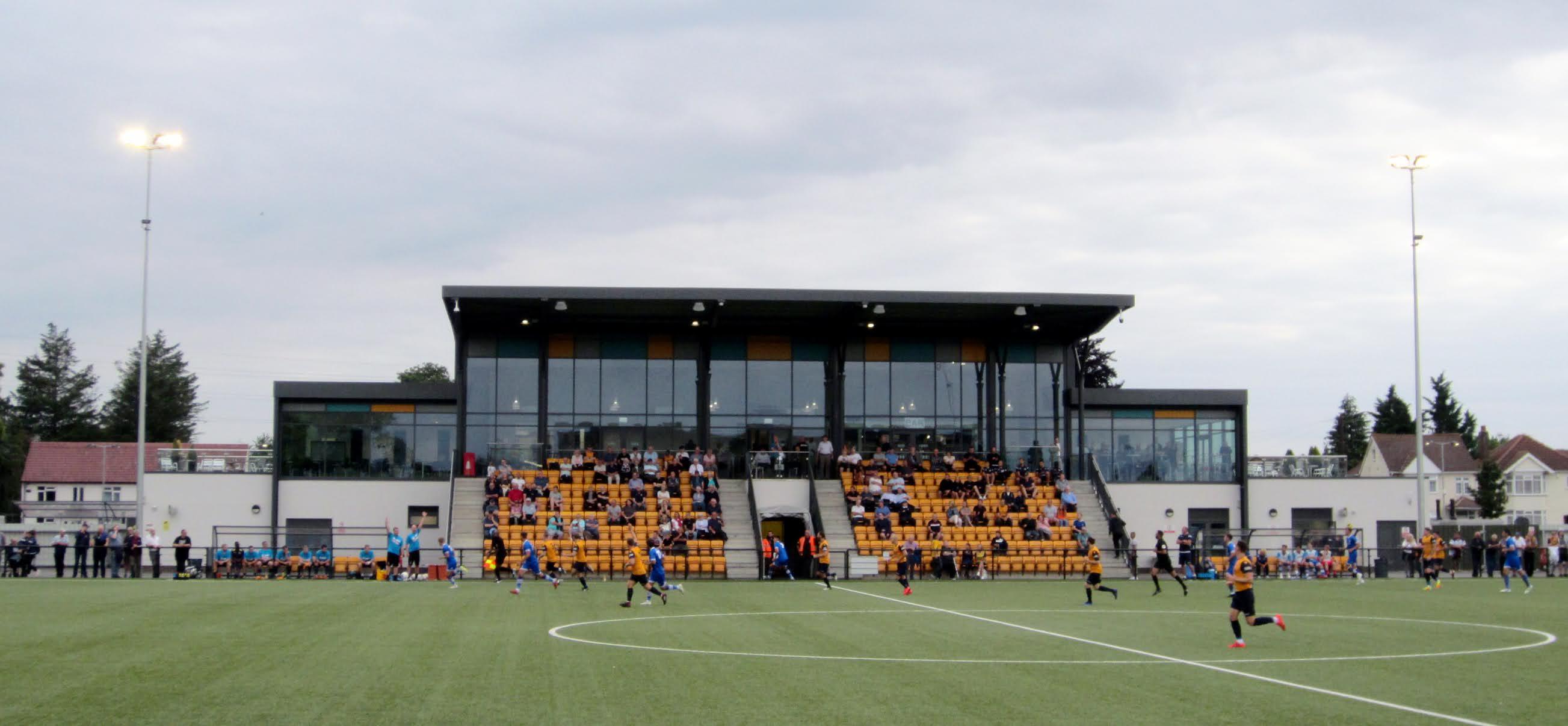 A closer photo of Arbour Park's main stand