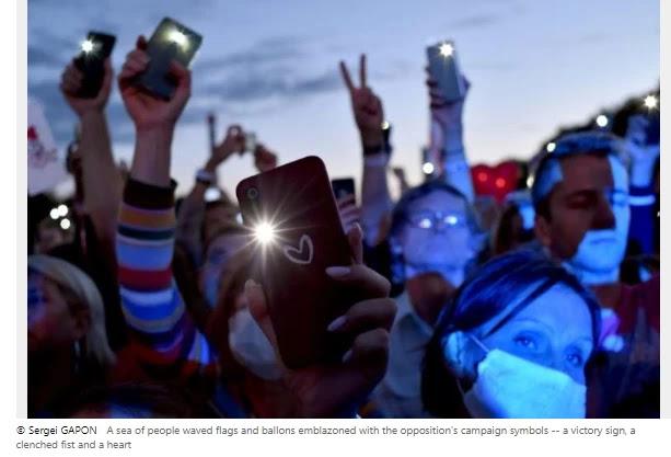 Tens of lots rally in Belarus notwithstanding pre-election crackdown