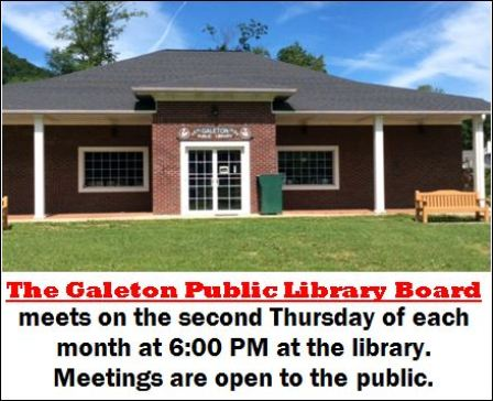 10-8 Galeton Library Board Meeting