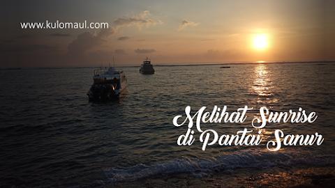 Melihat Matahari Terbit di Pantai Sanur Bali