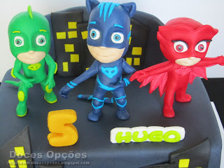 PJ Masks sugar paste