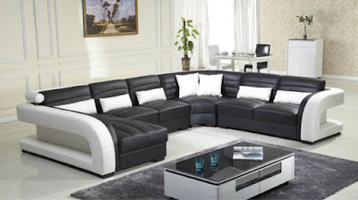 black and white sofa set designs for modern living room interiors (8)