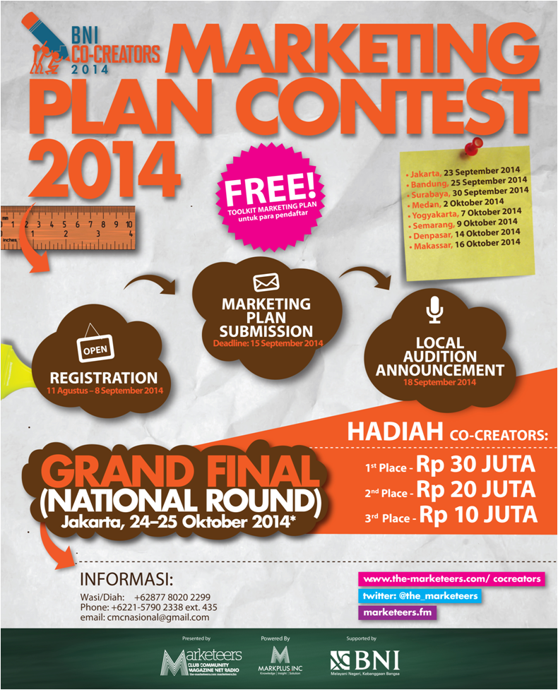BNI Co-Creators 2014: Marketing Plan Contest