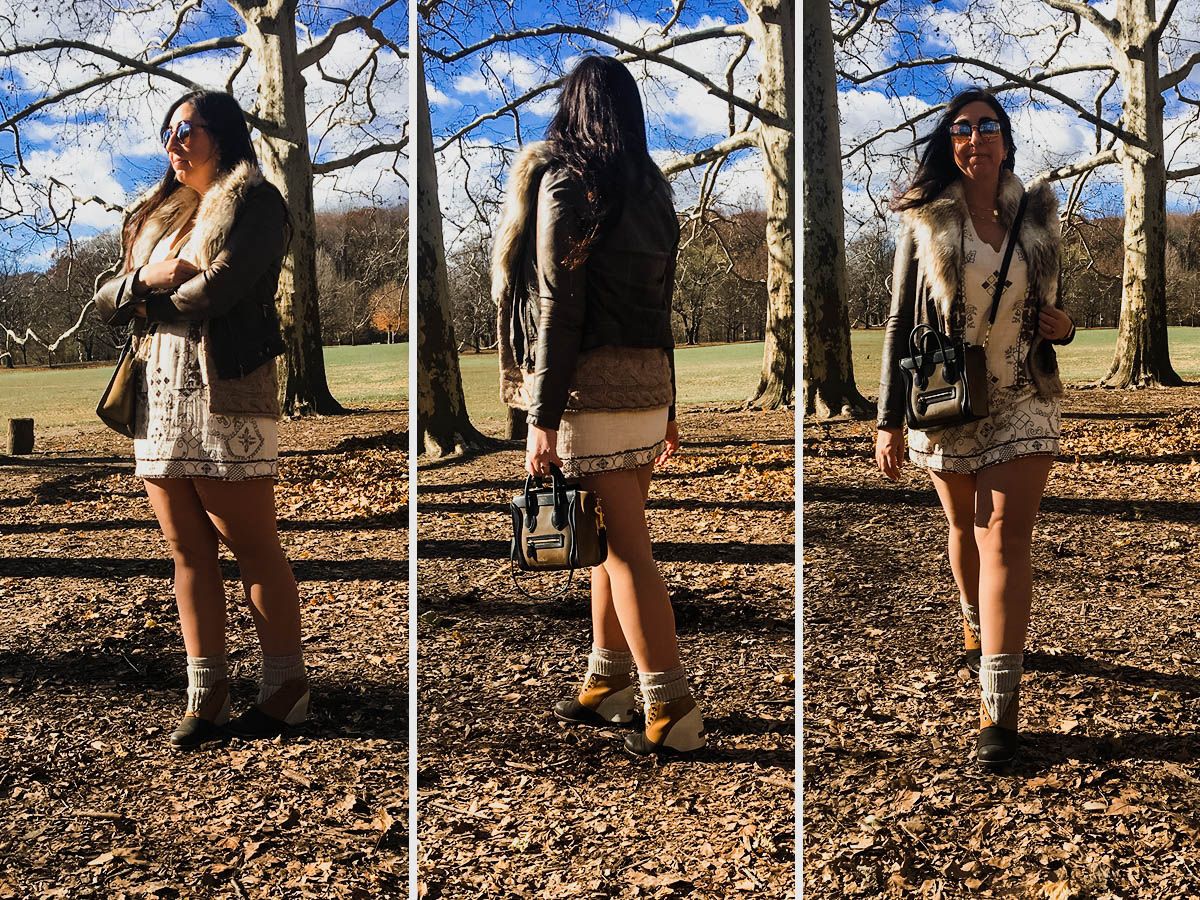 3 Ways to Wear a Mini Dress in Winter featuring the Glimmering Lights Mini Dress by Free People :: Effortlessly with Roxy
