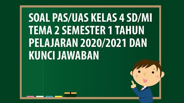 Soal PAS/UAS Kelas 4 SD/MI Tema 2 Semester 1 Tahun 2020