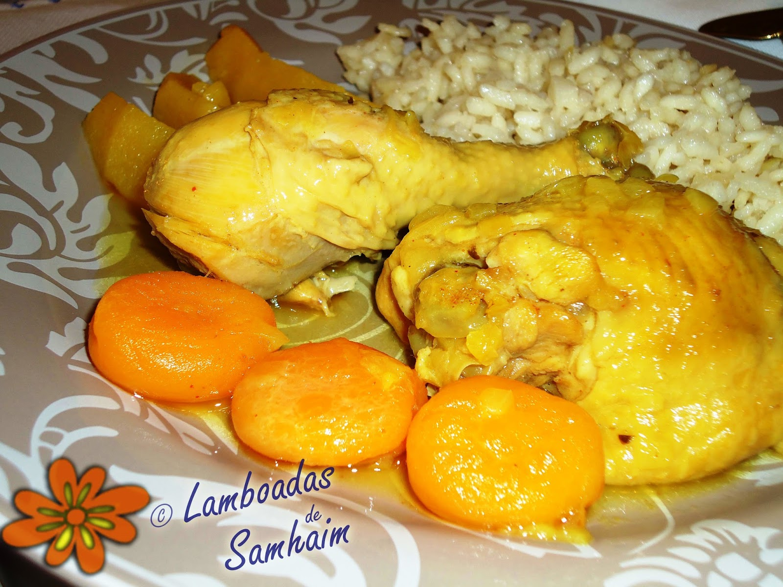 Lamboadas de Samhaim: Pollo con albaricoques en tagine
