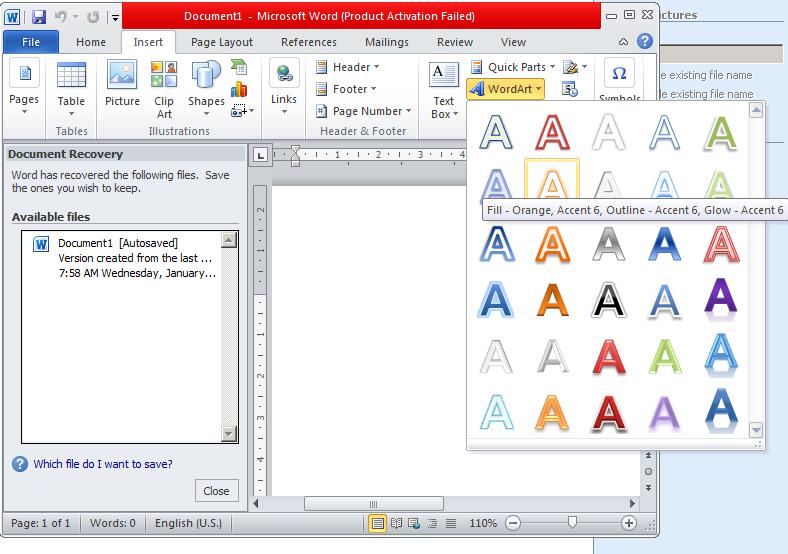 cara menambah atau membuat dan mengedit Word Art Pada Ms ...