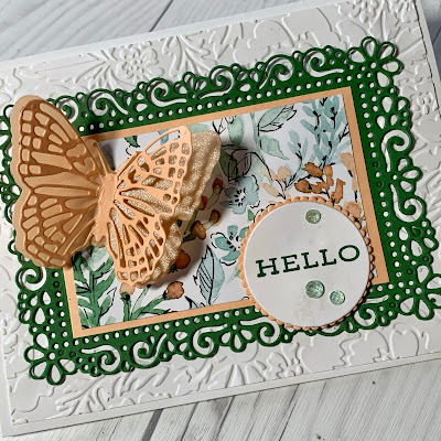 Hand made butterfly greeting card using Brilliant Butterflies Dies from Stampin' Up!