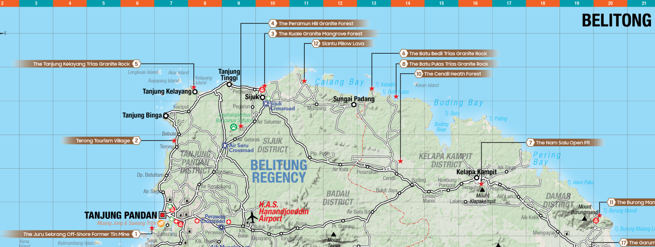 Map Lokasi Belitong Geopark