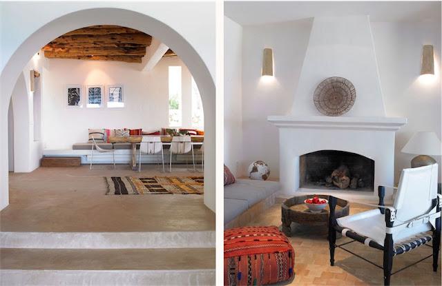 Villa Surga Ibiza salon boho chic chicanddeco