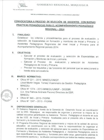 Programa de sostenimiento y mejora de la calidad del Convocatoria para las plazas docentes 2016