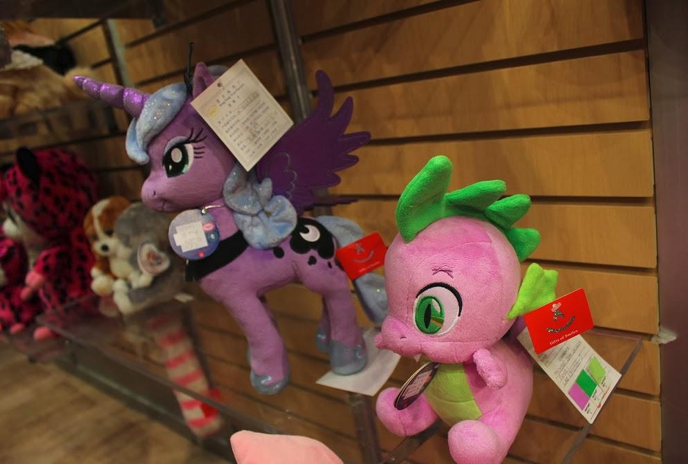 Princess Luna and Spike plushies by Aurora