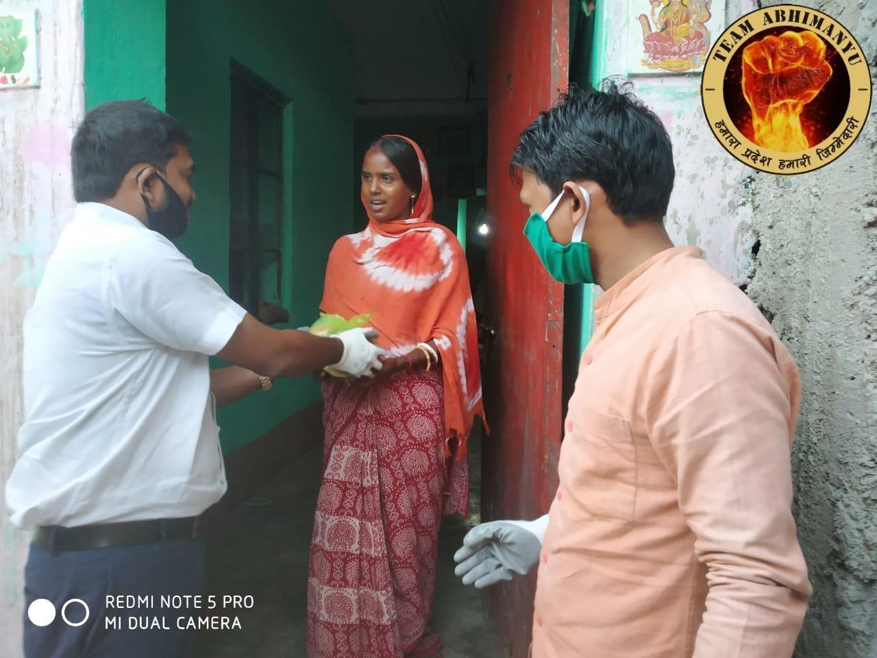 लाँकडाउन से परेशान लोगों की मदद को बेगूसराय भी पहुंची टीम अभिमन्यु की टोली
