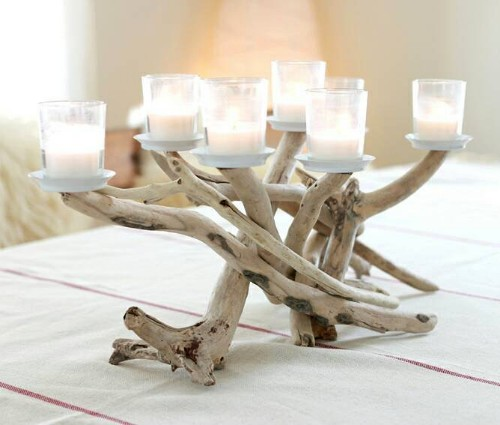 Driftwood Candelabra Candle Holder