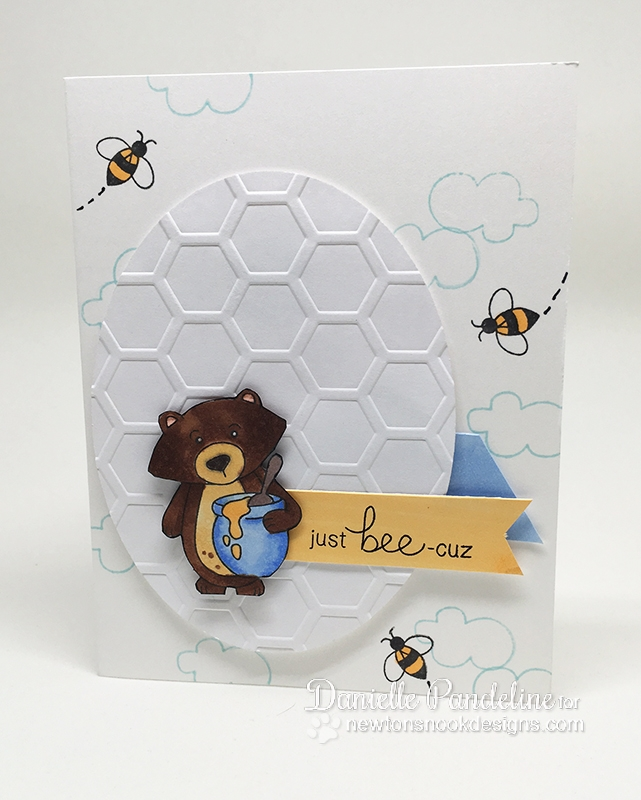 Just Bee-Cuz Card by Danielle Pandeline | Winston's Honeybees stamp set by Newton's Nook Designs #newtonsnook
