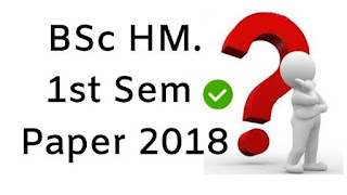 Mdu BSc (Home Science) 1st Sem Question Papers 2018