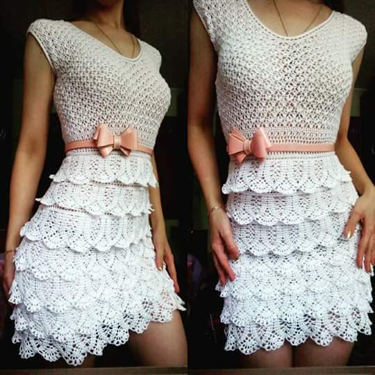 Free Crochet Dress And Skirt Patterns Pakbit For
