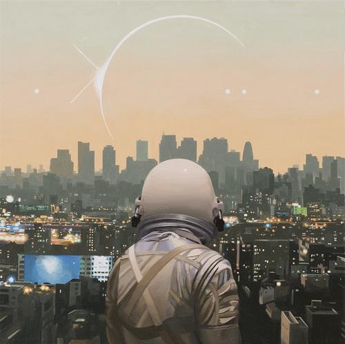 """The City"" - Scott Listfield | imagenes de arte bellas, pinturas tristes nostalgicas, cuadros, astronautas, sad art pictures, cool stuff"