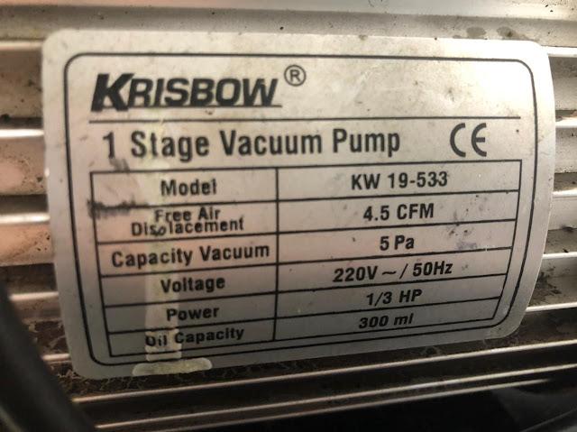 Pompa Vakum Laboratorium Merk Krisbow 1/3HP