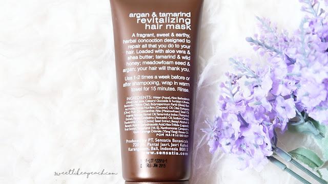 review sensatia botanicals Argan & tamarind revitalizing hair mask - sephora