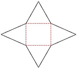 jaring-jaring limas segi empat beraturan