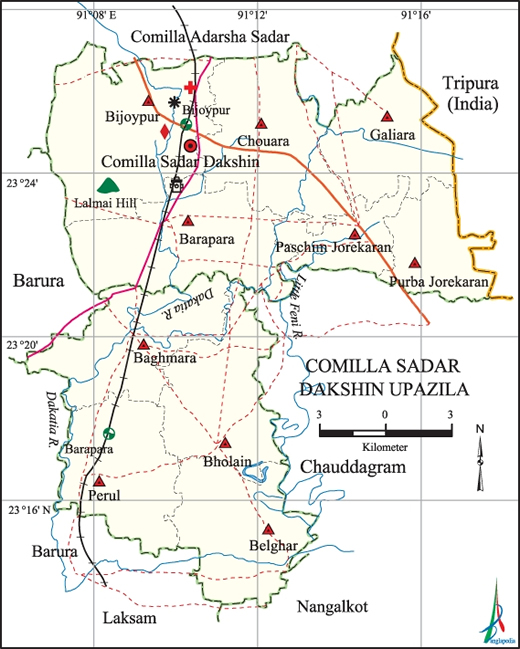 Mouza Map 3 Detailed Maps of Comilla Sadar Dakshin Upazila