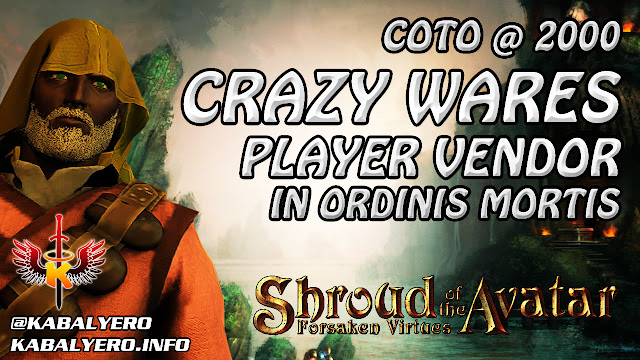 Shroud Of The Avatar Market Watch 💰 COTO @ 2000, Crazy Wares Player Vendor In Ordinis Mortis (1/14)