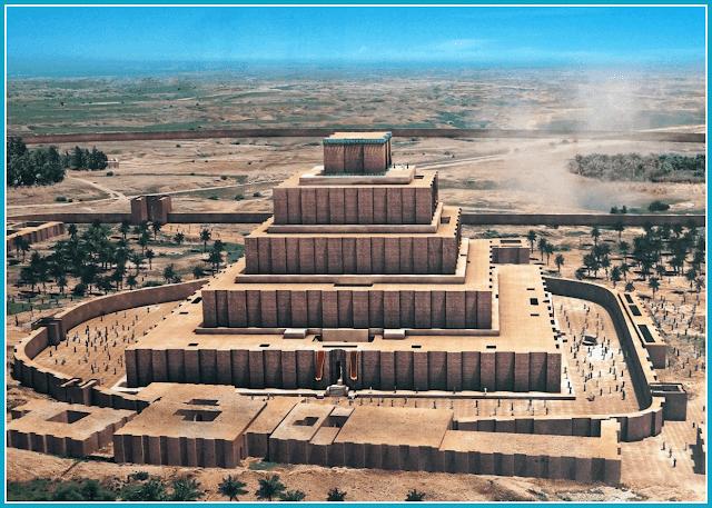 Storia dell'arte la mezzaluna fertile i sumeri ricostruzione ziqqurat di Chogha Zanbil