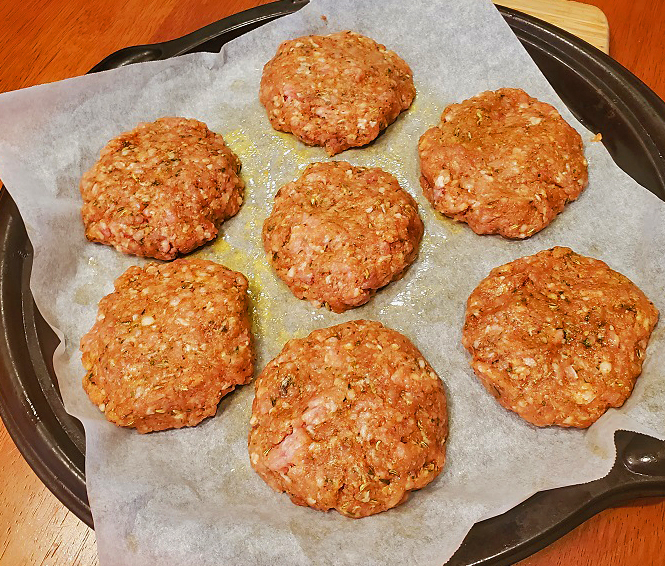 these are sausage patties ready to be baked