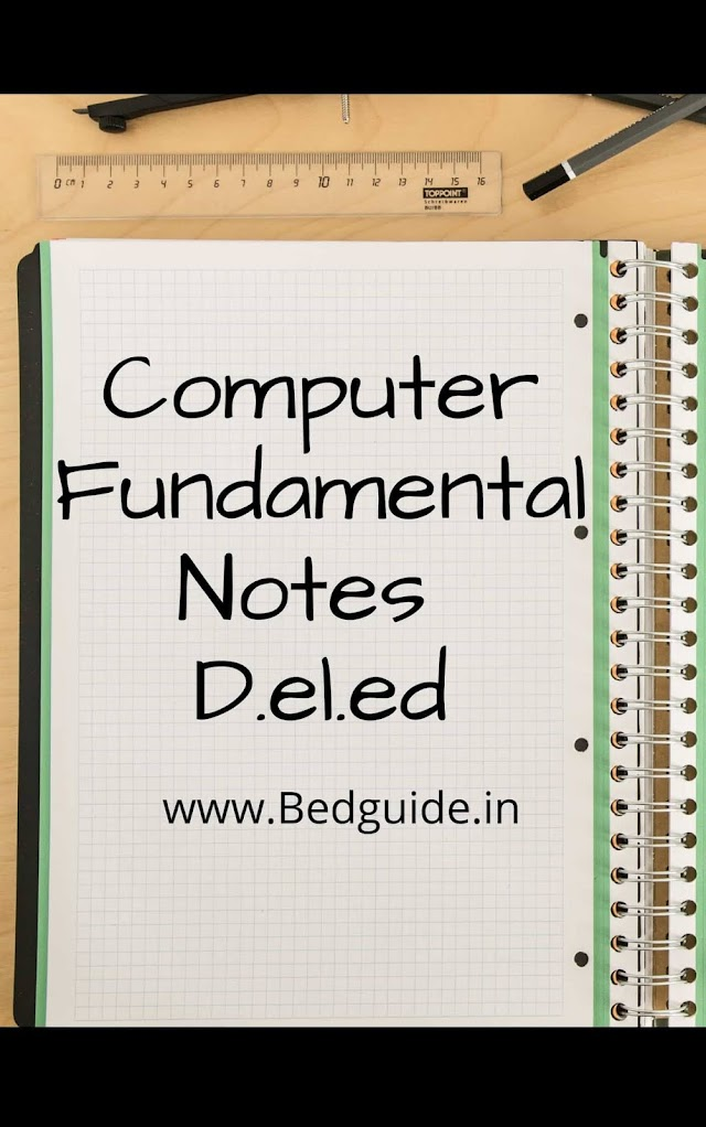 Computer fundamentals notes for D.el.ed PDF