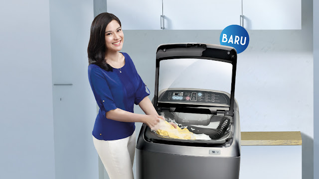 mesin cuci bebas samsung