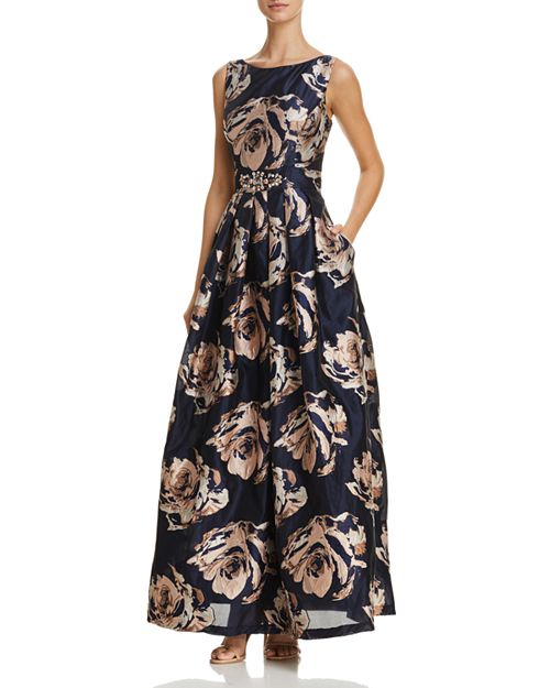 Embellished Floral Ball Gown