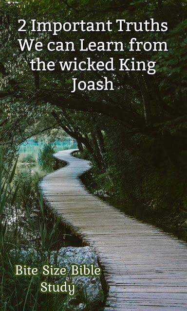 We can learn two important truths from the wicked King Joash...truths that help us deal with persecution.