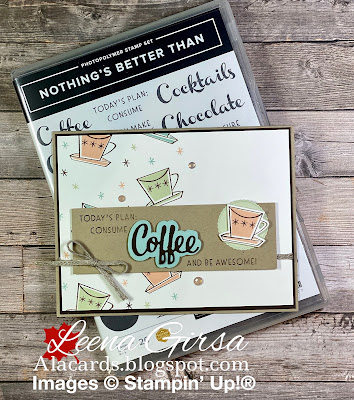 Card for a coffee lover