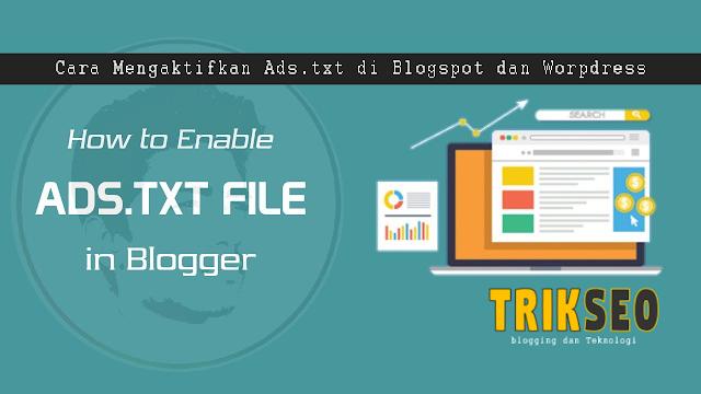 Cara Mengaktifkan Ads.txt di Blogger / Blogspot dan Worpdress