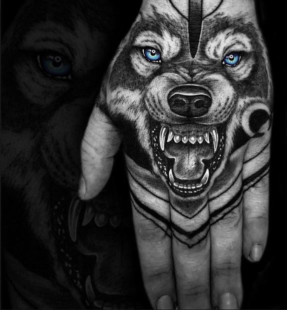 Snarling Wolf Tattoos